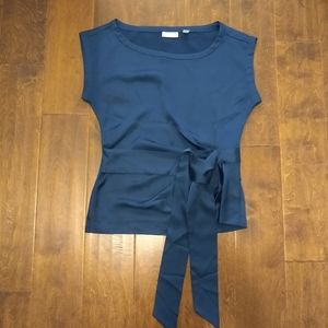 New York and Co size XS blue silky blouse